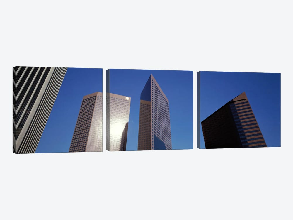 Low Angle View Of Downtown Office District, Los Angeles, California, USA #2 by Panoramic Images 3-piece Canvas Print