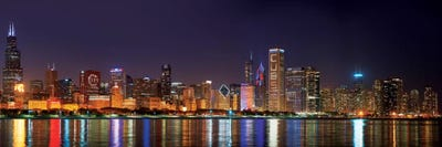 Chicago Cubs Pride Lighting Across Downtown Skyline I