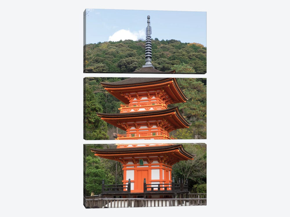 A Small Pagoda At Kiyomizu-Dera Temple, Kyoti Prefecture, Japan by Panoramic Images 3-piece Art Print
