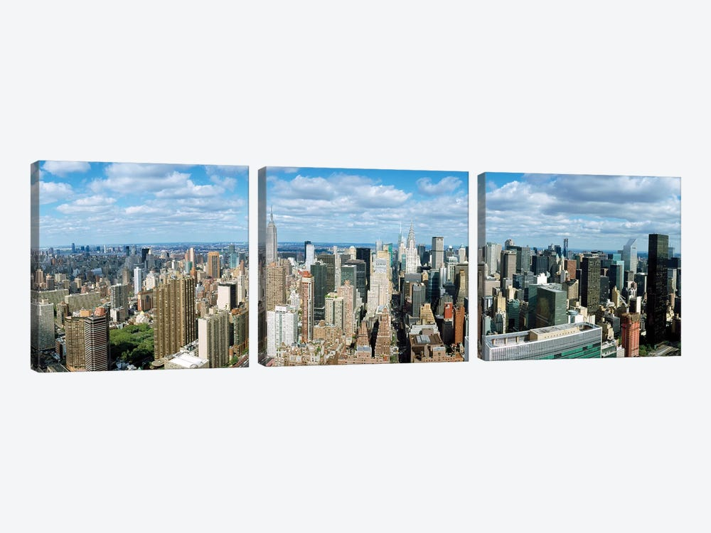 Aerial View Of A City, New York City, New York State, USA by Panoramic Images 3-piece Canvas Artwork