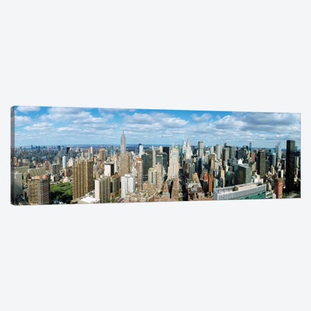 Aerial View Of A City, New York City, New York State, USA 3-Piece Canvas #PIM14236} by Panoramic Images Canvas Print