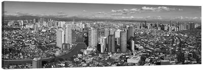 Aerial View Of Cityscape, Makati, Philippines Canvas Art Print