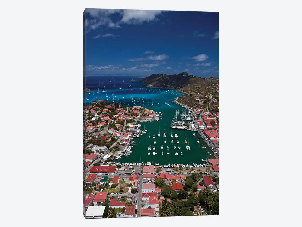 Aerial View Of Houses On An Island, Saint Barthélemy, Caribbean Sea 1-piece Canvas Art