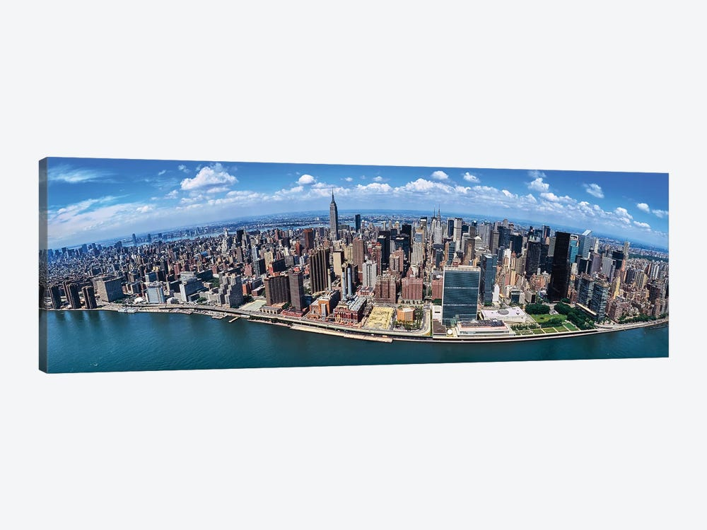 Aerial View Of New York City, New York State, USA I by Panoramic Images 1-piece Canvas Print