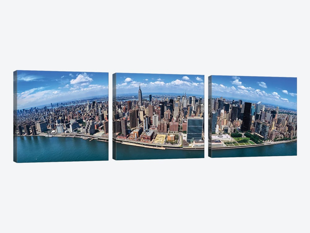 Aerial View Of New York City, New York State, USA I by Panoramic Images 3-piece Canvas Art Print