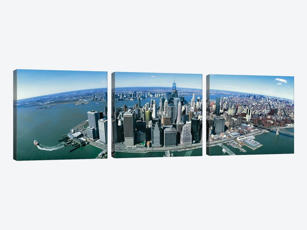 Aerial View Of New York City, New York State, USA II by Panoramic Images 3-piece Art Print