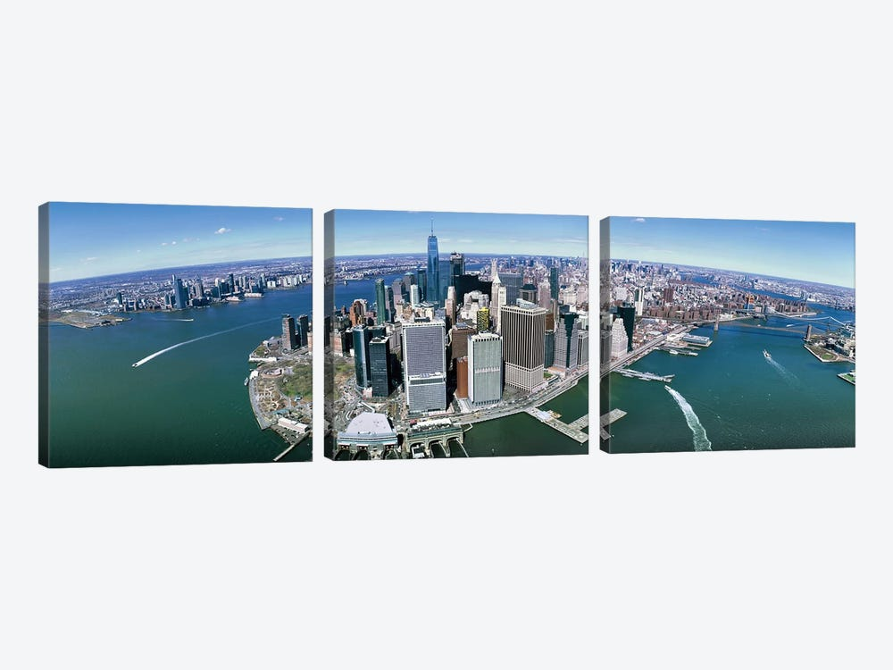 Aerial View Of New York City, New York State, USA III by Panoramic Images 3-piece Canvas Artwork