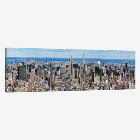 Aerial View Of New York City, New York State, USA IV 3-Piece Canvas #PIM14242} by Panoramic Images Canvas Art Print