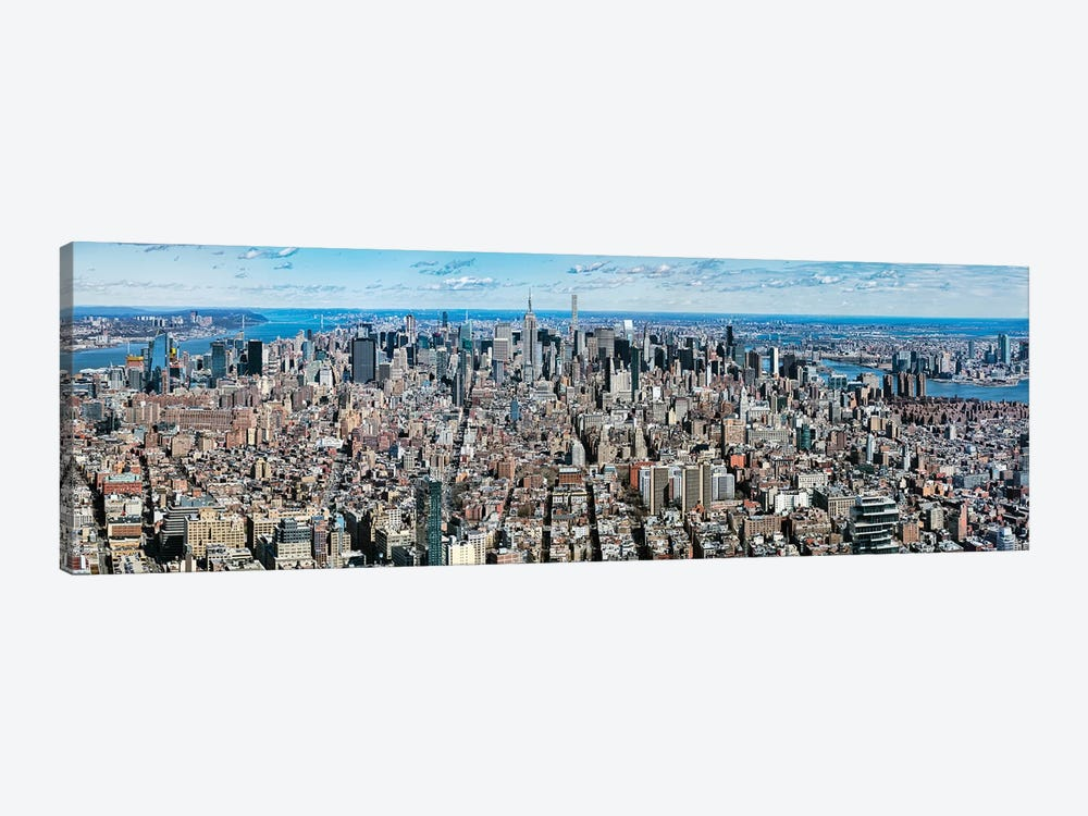 Aerial View Of New York City, New York State, USA V by Panoramic Images 1-piece Canvas Wall Art