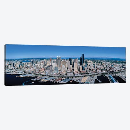 Aerial View Of Seattle, King County, Washington State, USA Canvas Print #PIM14244} by Panoramic Images Canvas Artwork