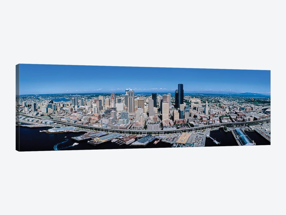 Aerial View Of Seattle, King County, Washington State, USA by Panoramic Images 1-piece Canvas Print