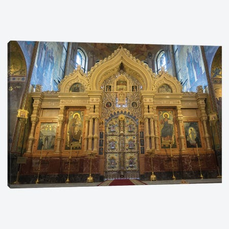 Altar At Church Of The Savior On Blood, St. Petersburg, Russia Canvas Print #PIM14245} by Panoramic Images Canvas Wall Art