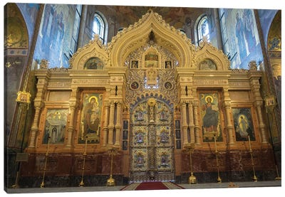 Altar At Church Of The Savior On Blood, St. Petersburg, Russia Canvas Art Print