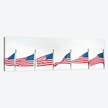 American Flags Canvas Print #PIM14246} by Panoramic Images Canvas Artwork