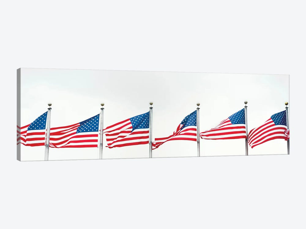 American Flags by Panoramic Images 1-piece Canvas Print