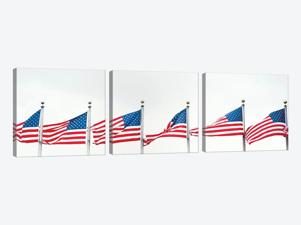 American Flags by Panoramic Images 3-piece Canvas Print