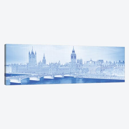 Arch Bridge Across A River, Westminster Bridge, Big Ben, Houses Of Parliament, Westminster, London, England Canvas Print #PIM14252} by Panoramic Images Canvas Wall Art