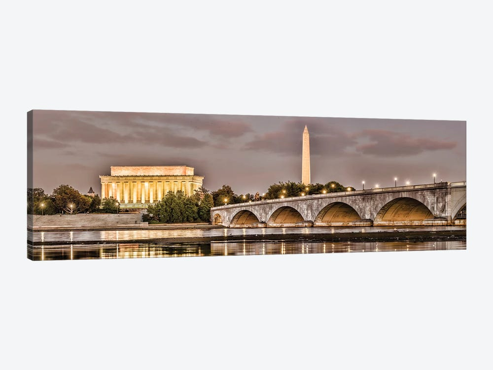 Arlington Memorial Bridge With Monuments In The Background, Washington D.C., USA I by Panoramic Images 1-piece Canvas Art Print