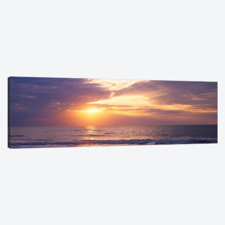 Atlantic Ocean At Sunset, Gulf Of Mexico, Naples, Collier County, Florida, USA Canvas Print #PIM14262} by Panoramic Images Canvas Print