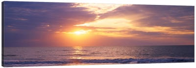 Atlantic Ocean At Sunset, Gulf Of Mexico, Naples, Collier County, Florida, USA Canvas Art Print