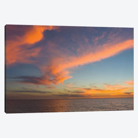 Atlantic Ocean At Sunset, Venice, Sarasota County, Florida, USA Canvas Print #PIM14263} by Panoramic Images Art Print