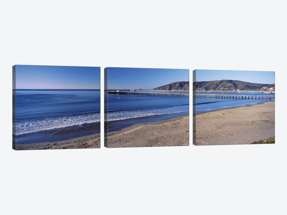 Avila Beach Pier, San Luis Obispo County, California, USA 3-piece Art Print
