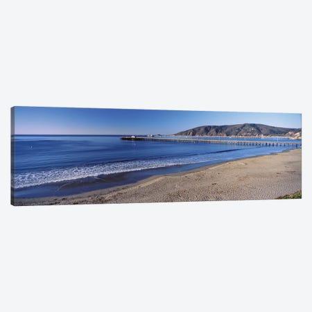 Avila Beach Pier, San Luis Obispo County, California, USA Canvas Print #PIM14273} by Panoramic Images Canvas Art