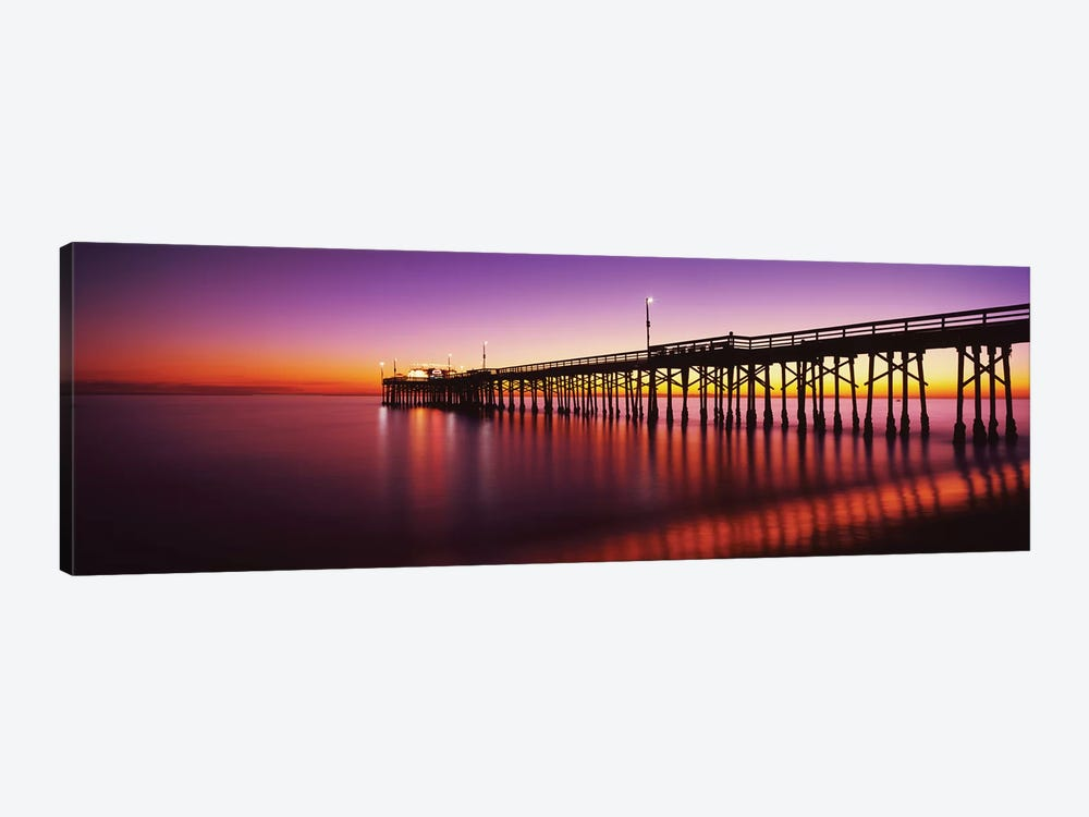 Balboa Pier At Sunset, Newport Beach, Orange County, California, USA by Panoramic Images 1-piece Canvas Artwork