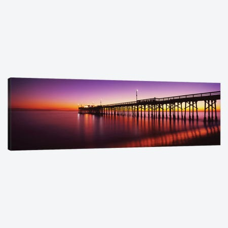 Balboa Pier At Sunset, Newport Beach, Orange County, California, USA Canvas Print #PIM14274} by Panoramic Images Canvas Print