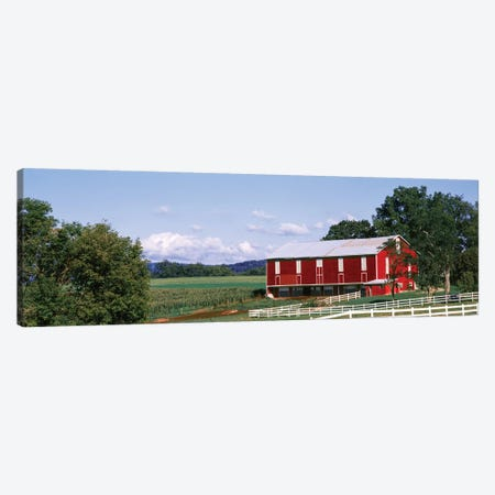 Barn In A Farm, Lewisburg, Union County, Pennsylvania, USA Canvas Print #PIM14282} by Panoramic Images Canvas Art Print