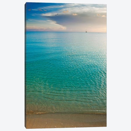 Beach At Sunset, Great Exuma Island, Bahamas I Canvas Print #PIM14285} by Panoramic Images Canvas Artwork