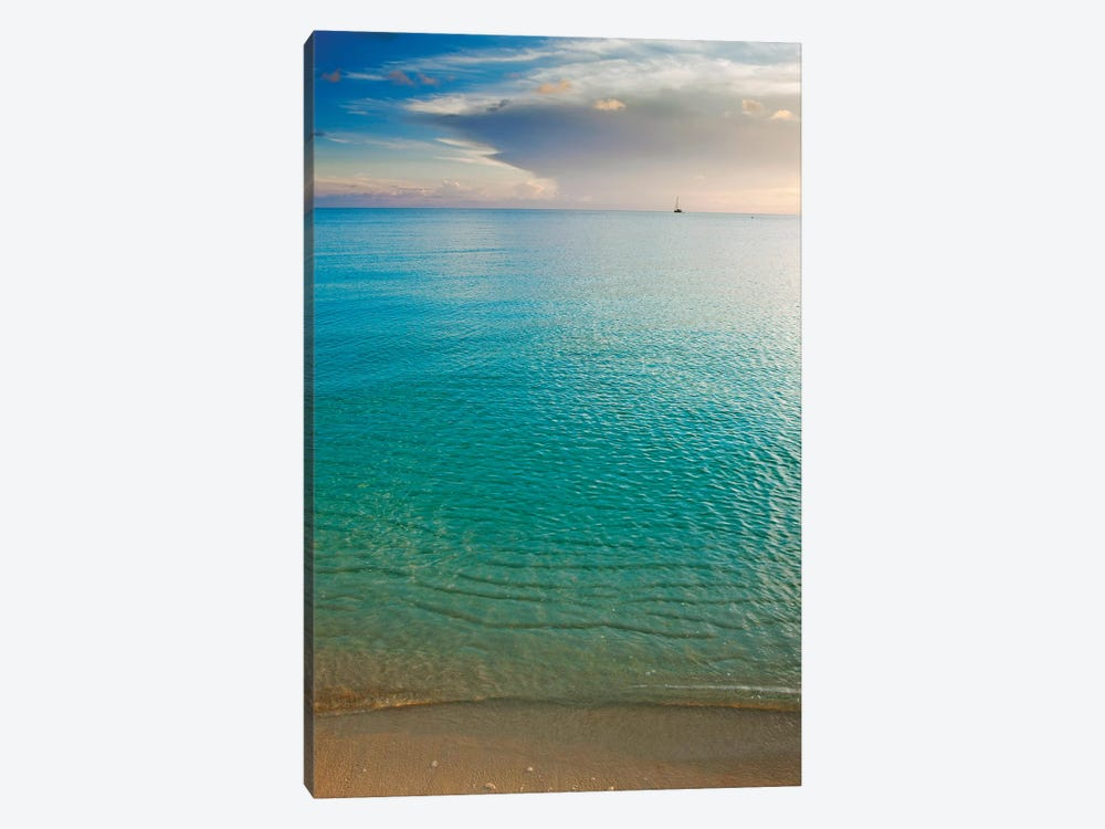 Beach At Sunset, Great Exuma Island, Bahamas I by Panoramic Images 1-piece Canvas Artwork