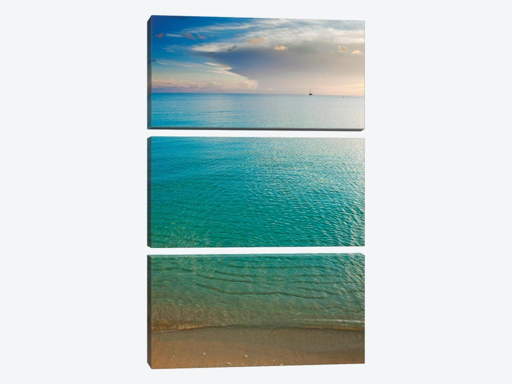Beach At Sunset, Great Exuma Island, Bahamas I by Panoramic Images 3-piece Canvas Art