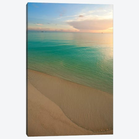 Beach At Sunset, Great Exuma Island, Bahamas II Canvas Print #PIM14286} by Panoramic Images Canvas Wall Art