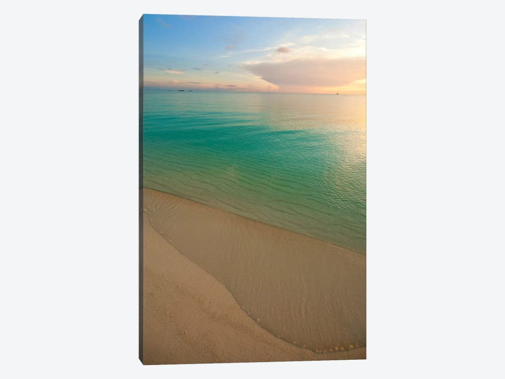 Beach At Sunset, Great Exuma Island, Bahamas II by Panoramic Images 1-piece Canvas Print