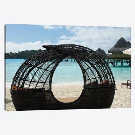 Beach Chair On The Beach, Bora Bora, Society Islands, French Polynesia Canvas Print #PIM14287} by Panoramic Images Canvas Artwork