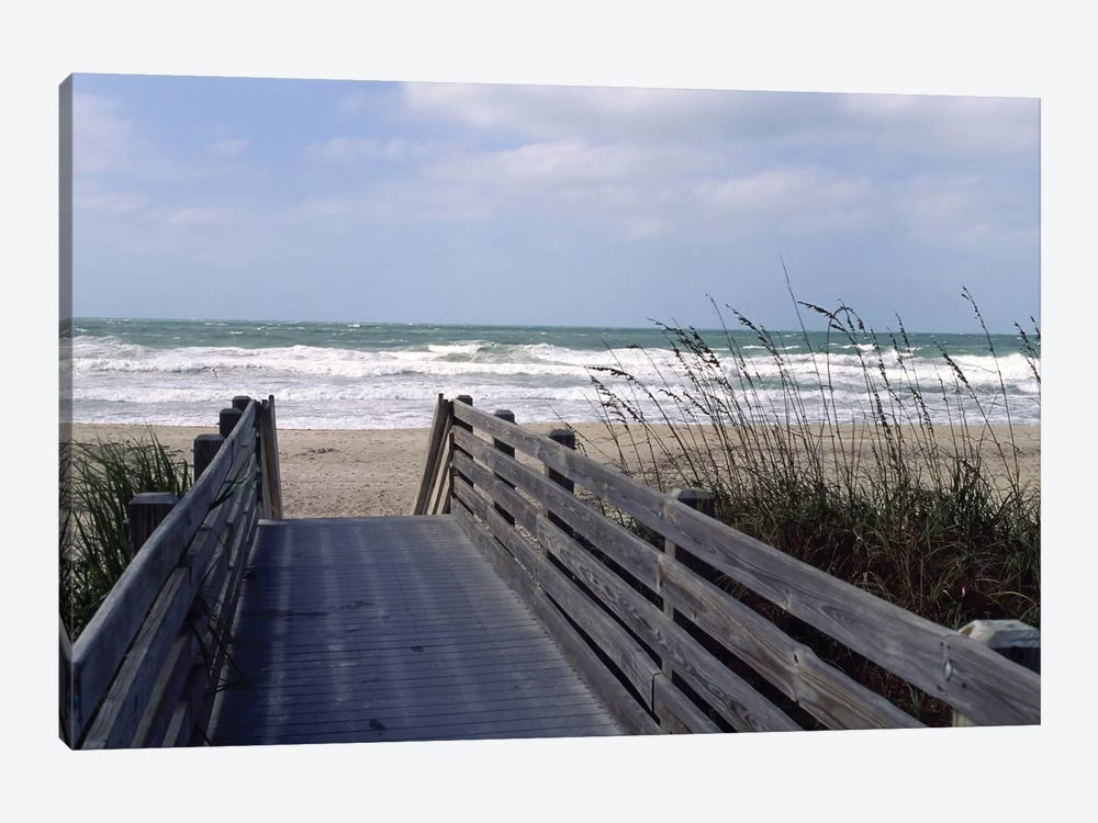Boardwalk On The Beach, Nokomis, Sarasota County, Florida, USA by Panoramic Images 1-piece Canvas Art Print