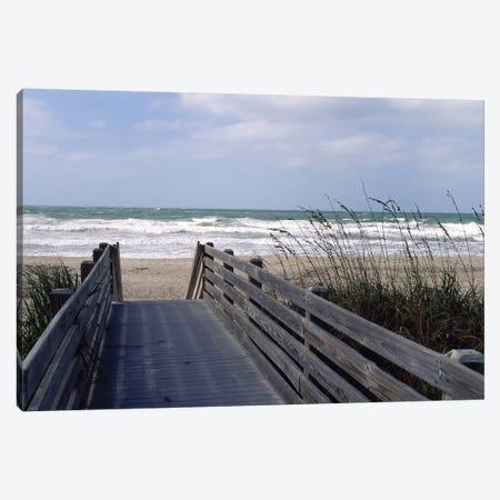 Boardwalk On The Beach, Nokomis, Sarasota County, Florida, USA Canvas Print #PIM14291} by Panoramic Images Canvas Artwork