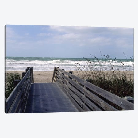Boardwalk On The Beach, Nokomis, Sarasota County, Florida, USA Canvas Print #PIM14291} by Panoramic Images Canvas Artwork