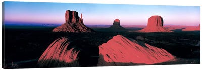 Sunset At Monument Valley Tribal Park, Utah, USA Canvas Print #PIM142