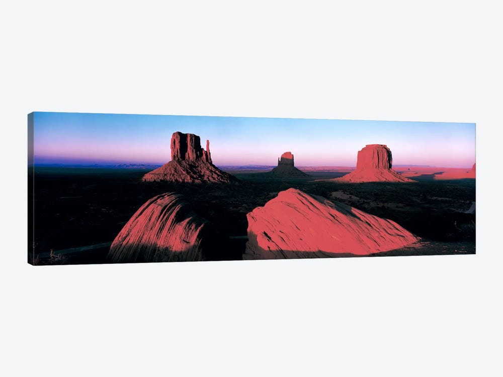 Sunset At Monument Valley Tribal Park, Utah, USA by Panoramic Images 1-piece Canvas Art Print