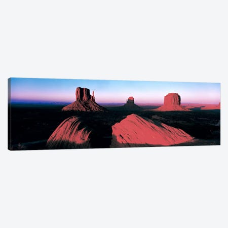 Sunset At Monument Valley Tribal Park, Utah, USA Canvas Print #PIM142} by Panoramic Images Art Print