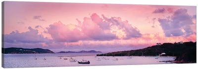Boats In The Sea, Coral Bay, Saint John, U.S. Virgin Islands Canvas Art Print