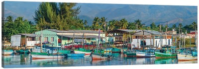 Boats Moored In Harbor, Trinidad, Cuba I Canvas Art Print