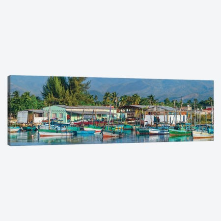 Boats Moored In Harbor, Trinidad, Cuba I Canvas Print #PIM14305} by Panoramic Images Canvas Print