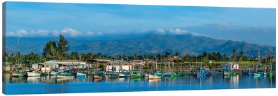 Boats Moored In Harbor, Trinidad, Cuba II Canvas Art Print