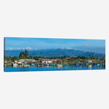 Boats Moored In Harbor, Trinidad, Cuba II 3-Piece Canvas #PIM14306} by Panoramic Images Canvas Print