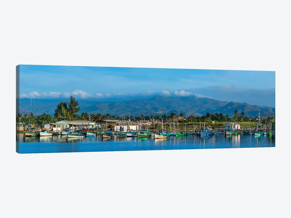 Boats Moored In Harbor, Trinidad, Cuba II by Panoramic Images 1-piece Canvas Wall Art
