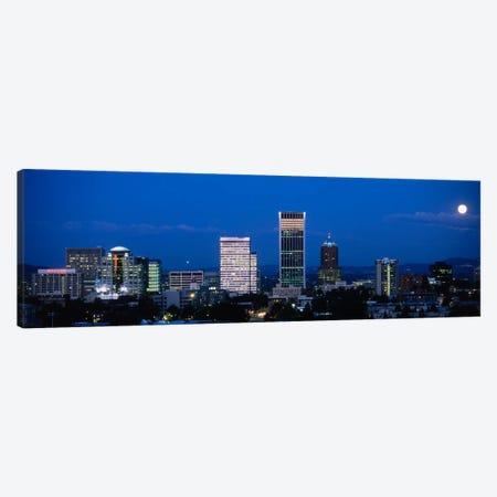 USA, Oregon, Portland, moon, night Canvas Print #PIM1430} by Panoramic Images Canvas Artwork