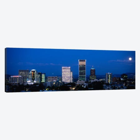 USA, Oregon, Portland, moon, night Canvas Print #PIM1430} by Panoramic Images Canvas Artwork